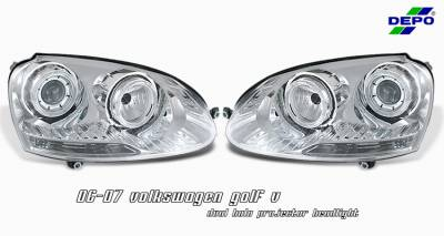 OptionRacing - Volkswagen Golf Option Racing Projector Headlight - 11-45265