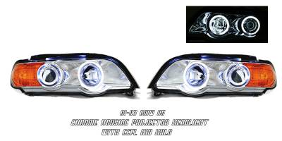 OptionRacing - BMW X5 Option Racing CCFL Projector Headlight - 12-12119