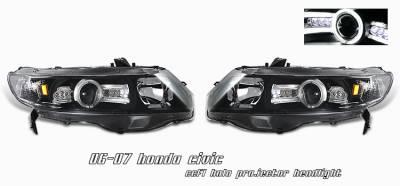 OptionRacing - Honda Civic Option Racing CCFL Projector Headlight - 12-20122