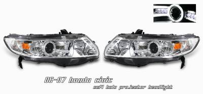 OptionRacing - Honda Civic Option Racing CCFL Projector Headlight - 12-20123