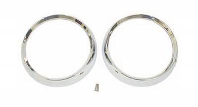 Omix - Omix Headlight Bezel - Pair - Chrome - 12419-04