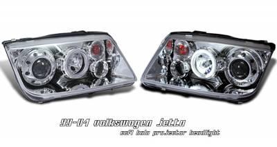 OptionRacing - Volkswagen Jetta Option Racing CCFL Projector Headlight - 12-45128