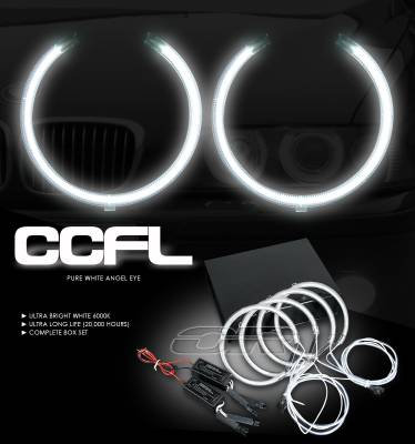 OptionRacing - BMW 5 Series Option Racing CCFL Halo Ring for Headlights - 13-12101