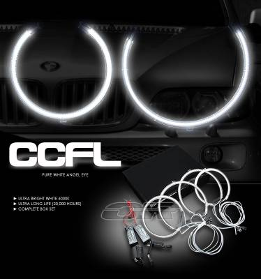 OptionRacing - BMW X5 Option Racing CCFL Halo Ring for Headlights - 13-12106