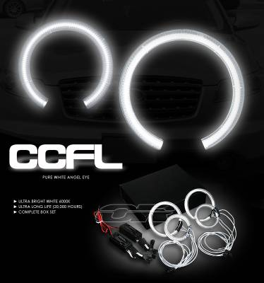 OptionRacing - Infiniti FX35 Option Racing CCFL Halo Ring for Headlights - 13-23108