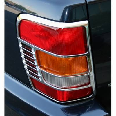 Omix - Omix Tail Light Trim Cover - Chrome - Pair - 13310-11