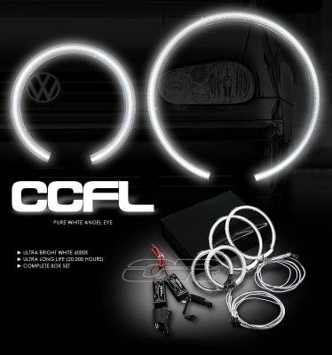 OptionRacing - Volkswagen Golf Option Racing CCFL Halo Ring for Headlights - 13-45114