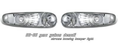 OptionRacing - GMC Yukon Option Racing Bumper Light - Chrome Housing - 16-19141