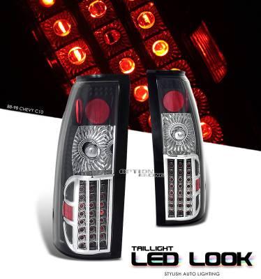OptionRacing - Cadillac Escalade Option Racing LED Look Taillight - 17-15125