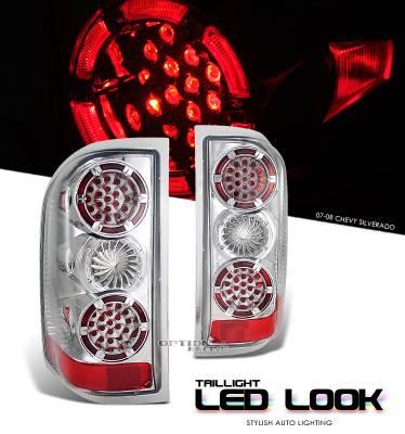 OptionRacing - Chevrolet Silverado Option Racing LED Look Taillight - 17-15136