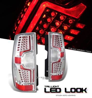 OptionRacing - Chevrolet Suburban Option Racing LED Look Taillight - 17-15145