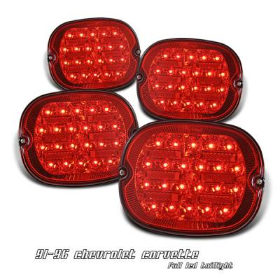 OptionRacing - Chevrolet Corvette Option Racing LED Taillight - 17-15150