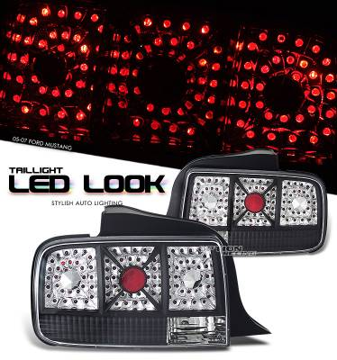 OptionRacing - Ford Mustang Option Racing LED Look Taillight - 17-18222