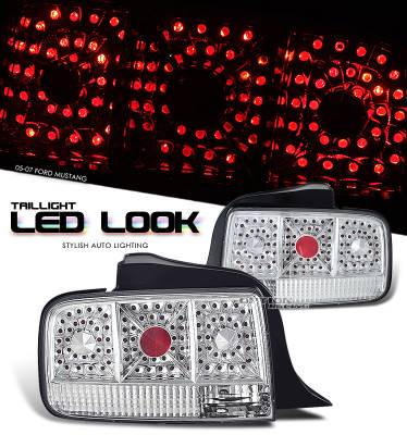 OptionRacing - Ford Mustang Option Racing LED Look Taillight - 17-18223