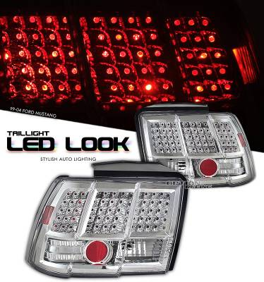 OptionRacing - Ford Mustang Option Racing LED Look Taillight - 17-18229
