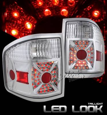 OptionRacing - Ford F150 Option Racing Taillights LED Look - Chrome Diamond Cut - 17-18369
