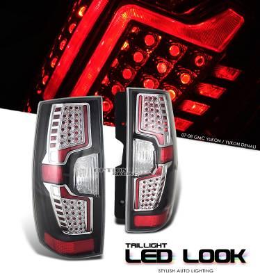 OptionRacing - GMC Yukon Option Racing LED Look Taillight - 17-19249