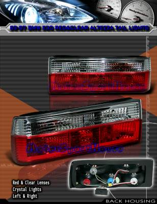 OptionRacing - Euro Red Clear Taillights 21-12102
