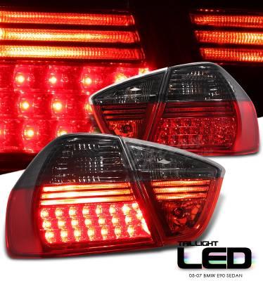 OptionRacing - BMW 3 Series Option Racing LED Taillights - 21-12129
