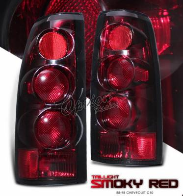 OptionRacing - Chevrolet C10 Option Racing Taillights - Smoky Red - 22-15317