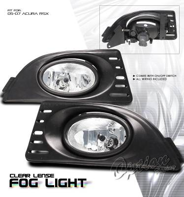 OptionRacing - Acura RSX Option Racing Fog Light Kit - 28-10190