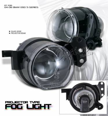 OptionRacing - BMW 5 Series Option Racing Fog Light Kit - Projector Type - 28-12171