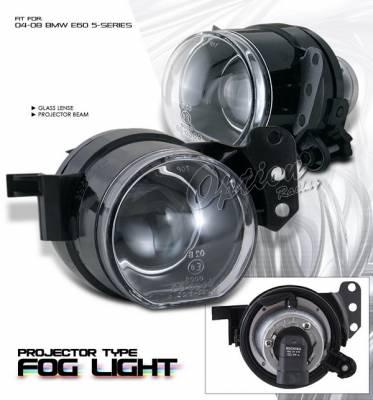 OptionRacing - BMW 5 Series Option Racing Fog Light Kit - Projector Type - 28-12171