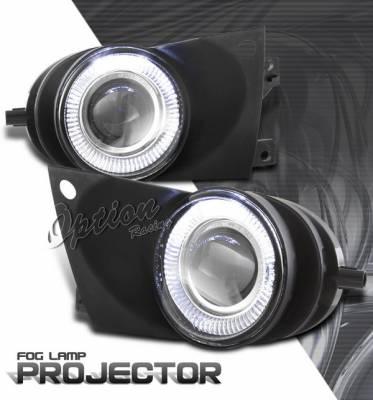 OptionRacing - BMW 5 Series Option Racing Fog Light Kit - Halo Projector - 28-12228