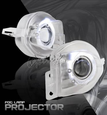 OptionRacing - BMW 3 Series Option Racing Fog Light Kit - Halo Projector - 28-12229