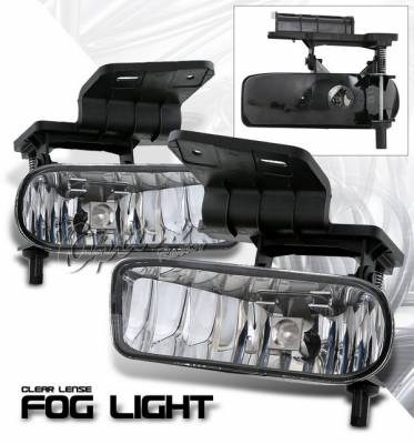 OptionRacing - Chevrolet Silverado Option Racing Fog Light Kit - Clear - 28-15353