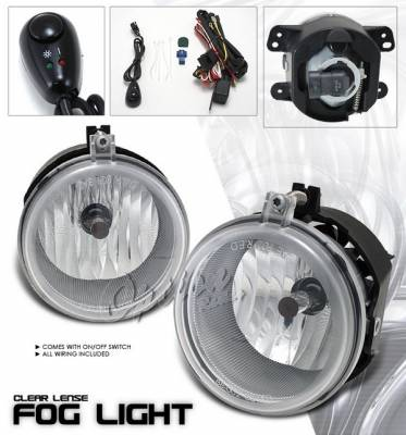 OptionRacing - Chrysler Sebring Option Racing Fog Light Kit - Clear - 28-16210