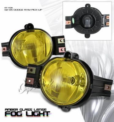 OptionRacing - Dodge Ram Option Racing Fog Light Kit - Amber - 28-17114