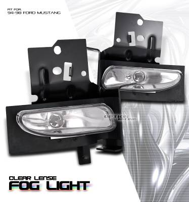 OptionRacing - Ford Mustang Option Racing Fog Light Kit - 28-18122
