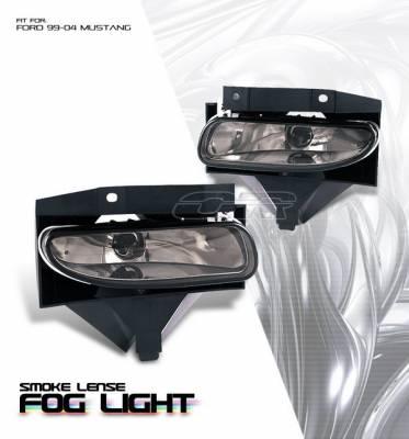 OptionRacing - Ford Mustang Option Racing Fog Light Kit - Smoke - 28-18124
