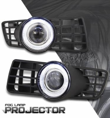 OptionRacing - Ford Expedition Option Racing Fog Light Kit - Halo Projector - 28-18238