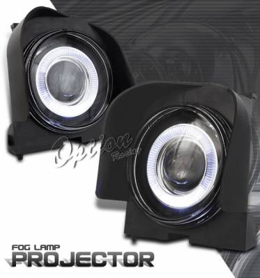 OptionRacing - Ford Explorer Option Racing Fog Light Kit - Halo Projector - 28-18239