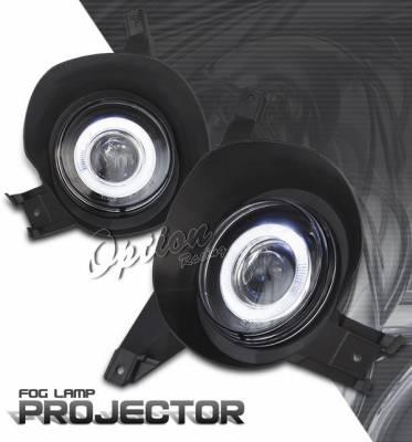 OptionRacing - Ford Explorer Option Racing Fog Light Kit - Halo Projector - 28-18240