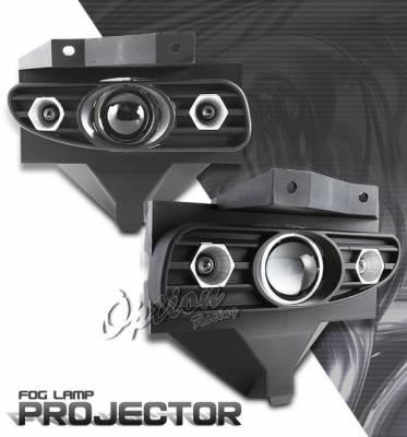 OptionRacing - Ford Mustang Option Racing Fog Light Kit - Halo Projector - 28-18246