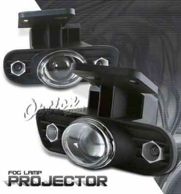OptionRacing - GMC Sierra Option Racing Fog Light Kit - Halo Projector - 28-19249