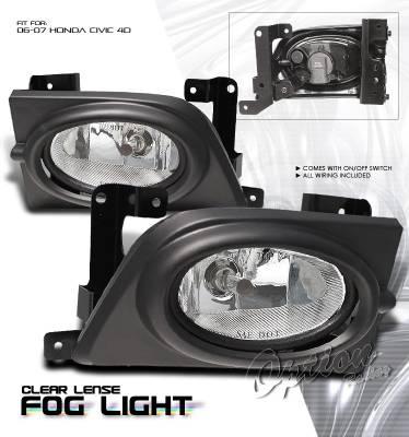 OptionRacing - Honda Civic Option Racing Fog Light Kit - 28-20188