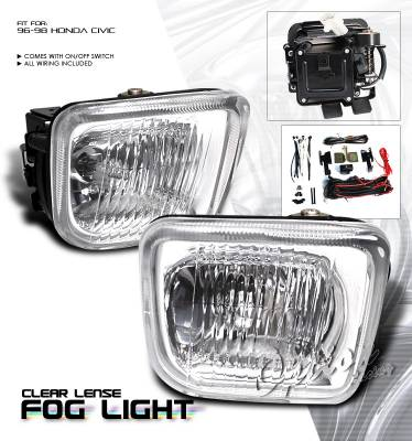 OptionRacing - Honda Civic Option Racing Fog Light Kit - 28-20195