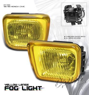OptionRacing - Honda Civic Option Racing Fog Light Kit - 28-20196