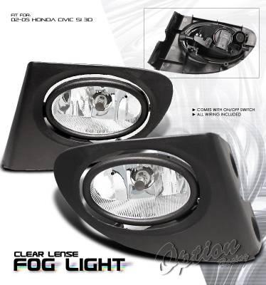 OptionRacing - Honda Civic Option Racing Fog Light Kit - 28-20197