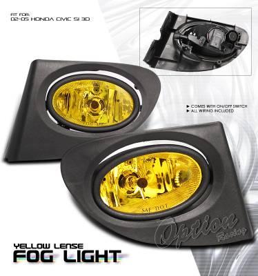 OptionRacing - Honda Civic Option Racing Fog Light Kit - 28-20198