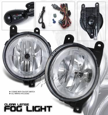 OptionRacing - Lincoln Navigator Option Racing Fog Light Kit - Clear - 28-30218