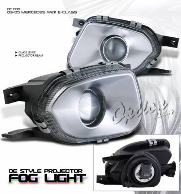 OptionRacing - Mercedes-Benz E Class Option Racing Fog Light Kit - Projector Type OEM Style - 28-32170