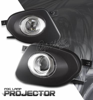 OptionRacing - Mercedes-Benz E Class Option Racing Fog Light Kit - Halo Projector - 28-32261