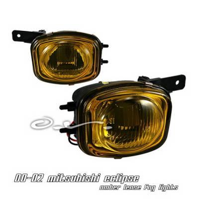 OptionRacing - Mitsubishi Eclipse Option Racing Fog Light Kit - Amber - 28-35148