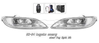 OptionRacing - Toyota Camry Option Racing Fog Light Kit - 28-44159