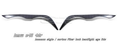 OptionRacing - BMW 3 Series Option Racing Headlight Eyelids - 49-12106